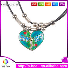 ebay necklace heart images Heart bff pendant for best friend mood and glow in the dark jpg
