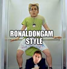 Funny Messi Memes - cristiano ronaldo and lionel messi doing gangnam style funny meme