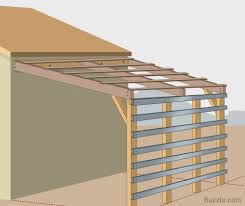 how to build a strong and sturdy lean to roof wood planks plank