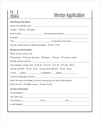 mentoring template mentor application templates 9 free word pdf documents