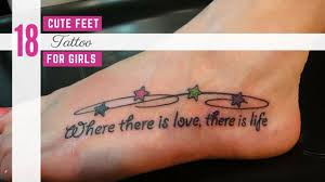 18 cute feet tattoos for girls amazing tattoo ideas