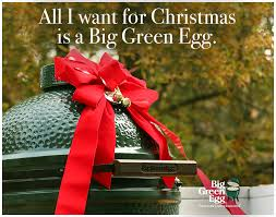 a big green egg for