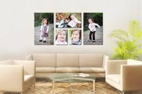 wohnzimmer leinwand fotos auf leinwand selber machen fotocollage wohnzimmer fotowand