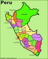 Lima Map Administrative Divisions Map Of Peru