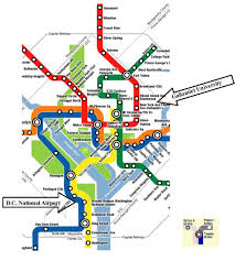 Washington Metro Map by Washington National Airport