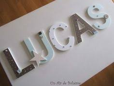 lettres pour chambre bébé lettre en bois et tissu pour chambre de fille et bébé prénom