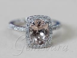 morganite engagement ring white gold vs 7x9mm morganite ring 14k white gold wedding engagement