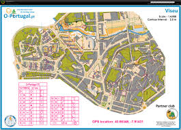 Portugal World Map by Portugal 11 Sprint I Viseu March 2nd 2017 Orienteering Map