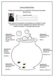 worksheet harry potter algebra bronze docx teaching