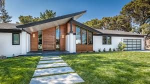 modern mid century avbuilders mid century modern ranch front door curb appeal av builders