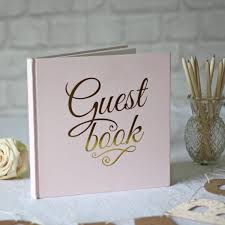 guest book wedding pink and gold foil guest book the wedding of my dreams