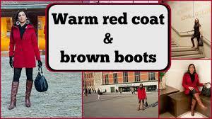 crossdresser stockings high heels crossdresser in amsterdam red coat and brown high heeled boots