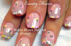 robin moses nail art diy easy spring 2016 wild flower nail art