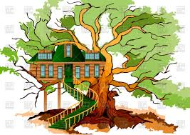 file tree house jpg tree house on oak royalty free vector clip art image 77671 rfclipart