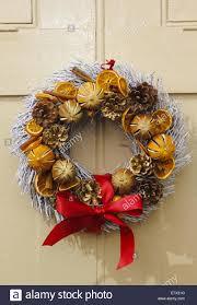natural christmas wreath featuring dried fruits u0026 cinnamon sticks