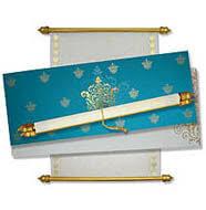Scroll Invitation Rods Boxed Scroll Invitations