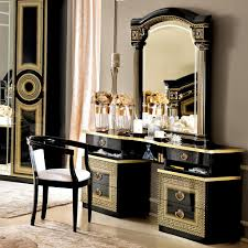 versace dining room table italian medusa black high gloss gold or silver dressing table