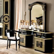 versace dining room table italian medusa black high gloss gold or silver dressing table