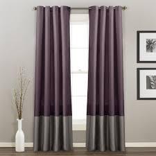 prima velvet color block room darkening window curtain panel set
