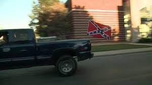 Confederate Flag With Eagle Meaning Students Parents Show Up In Support Of Confederate Flag In