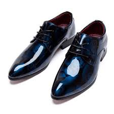 wedding shoes for groom men dress shoes shadow patent leather luxury fashion groom wedding