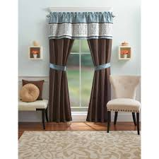 Better Homes And Gardens Blue Ombre Scroll Piece Window Curtains - Living room curtain sets