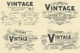 Vintage Ornaments Vintage Typography Ornaments V3 Objects Creative Market