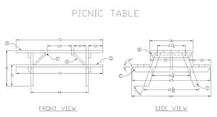 how to build a wooden picnic table free woodworking plans from