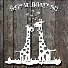 s day giraffe paper cut giraffes in s day card on wooden backg