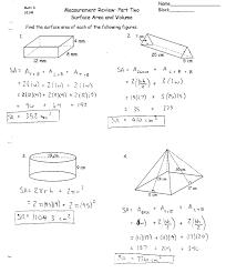 surface area and volume worksheet worksheets