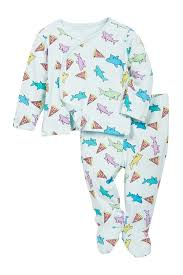 rosie pope pizza shark kimono top and footed pants set shark
