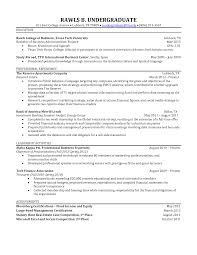Sample Resume Investment Banking by Sample Resume For Biology Major Free Resume Example And Writing