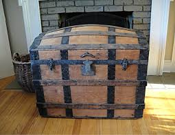 furniture vintage steel covered steamer trunk for antique coffee