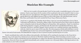 exle biography for ministers musician bio exle bio exles pinterest musicians and learning
