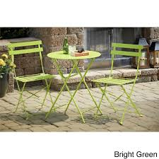 Ornate Metal Folding Bistro Chair Cosco 3 Piece Folding Bistro Set Free Shipping Today Overstock