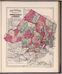 Map Of Hudson County Nj Atlas Of New Jersey Counties Of Morris Passaic And Bergen And