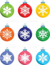 set of decorations balls in flat style vector