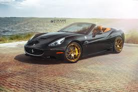 gold ferrari black ferrari california matches up with gloss bronze wheels