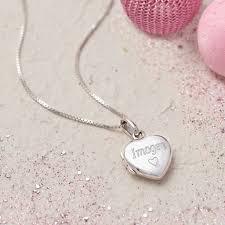 children s lockets personalised sterling silver girl s locket by hurleyburley