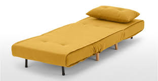 Single Sofa Bed Haru Single Sofa Bed In Butter Yellow Made