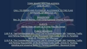 Flag Day Songs Town Board Meeting June 06 2017