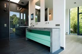 green bathroom vanity eclectic seattle with canisters