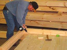 log floor log cabin kit construction steps merrimac log homes