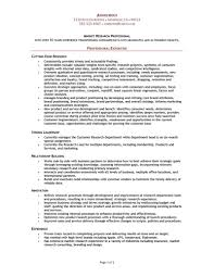 Sample Resume For Abroad Format by Marketing Research Resume Examples Free Resume Example And