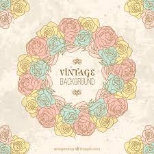 imagenes de rosas vintage fondo de corona de rosas vintage dibujada a mano descargar
