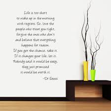 large size seuss quotes life too short inspirational wall large size seuss quotes life too short inspirational wall art vinyl decal stickers full girl decals from lin