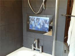 bathroom tv ideas tv for bathroom wall home design
