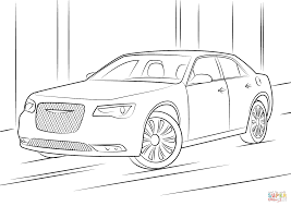chrysler 300 coloring page free printable coloring pages