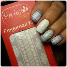 perfect nail a nail art gel film that melts onto polish lace knit