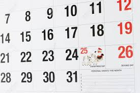 calendar page showing december 25 day and december
